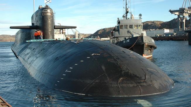 Ruská jaderná ponorka, ilustrační snímek