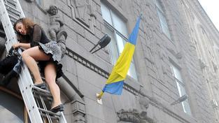 Požár v Kyjevě