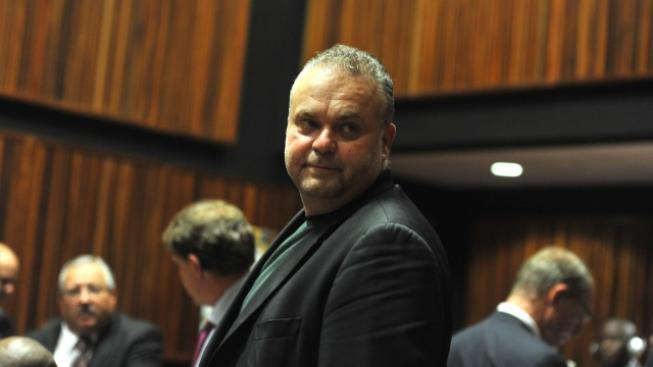 Uprchlý český 'podnikatel' Radovan Krejčíř u soudu v  Johannesburgu