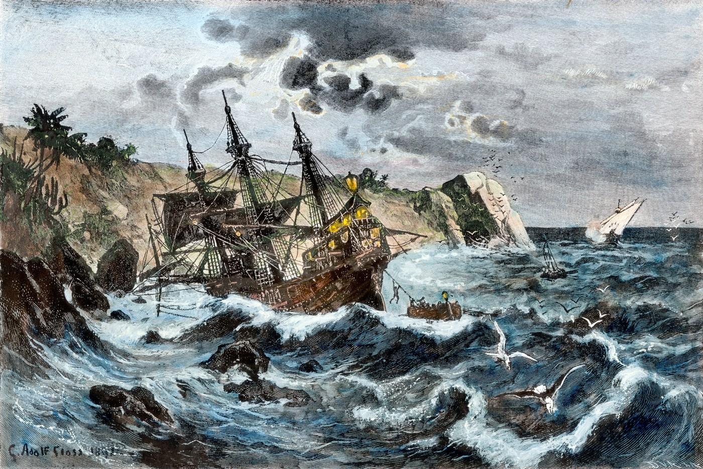 Trosky nalezené u Haiti patří slavné lodi Kryštofa Kolumba