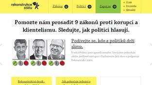 Oficiální web Rekonstrukce státu