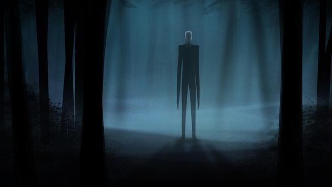 Slender Man je muž s nepřirozeně dlouhými končetinami, bez obličeje a s paranormálními schopnostmi