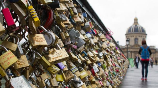 Most lásky v Paříži