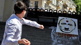 Komická kresba Putina