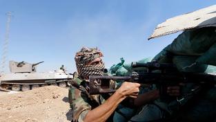 Kurd bojující proti radikálům poblíž Kirkúku