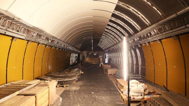 Metro Národní třída během rekonstrukce