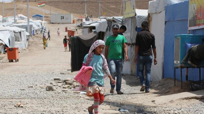 Tábor syrských uprchlíků v Iráku