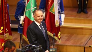 Andrej Kiska při inauguraci