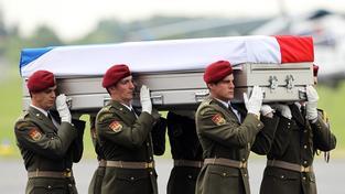 Těla vojáků byla do České republiky převezena minulý týden