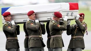 Mrtvý český voják, padlý v Afghánistánu