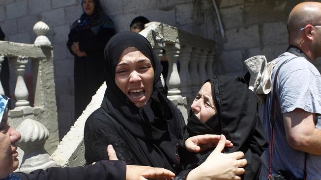 Izraelské ženy, po útoku radikálů z Hamas