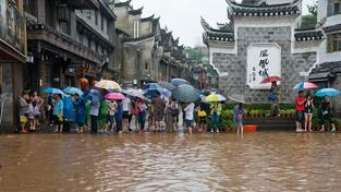 Jih Číny postihly záplavy.