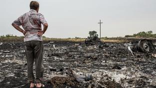 Místo pádu letadla na Ukrajině