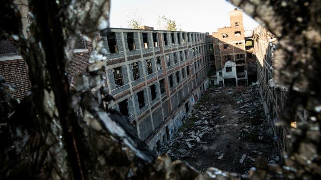 Bývalá továrna na automobily v Detroitu
