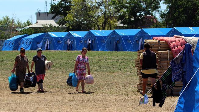 Ukrajinci v ruských utečenckých táborech