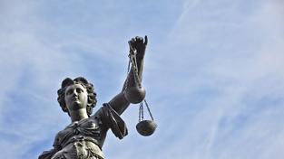 Socha spravedlnosti ve Frankfurtu nad Mohanem
