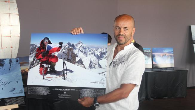 Horolezec Radek Jaroš