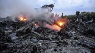 Trosky malajsijského boeingu sestřeleného nad Ukrajinou