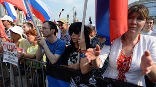 Dnešní demonstrace v Moskvě