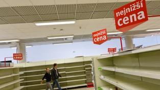 Vyklizený supermarket