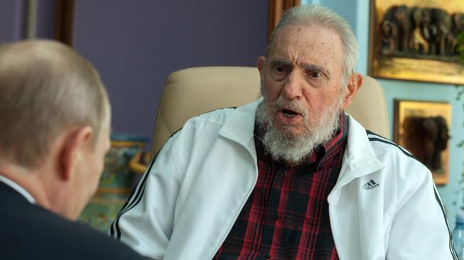 Kubánský vůdce Fidel Castro s ruským prezidentem Vladimirem Putinem