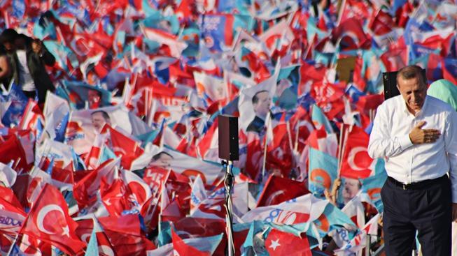 Vítěz tureckých voleb Recep Tayyip Erdogan