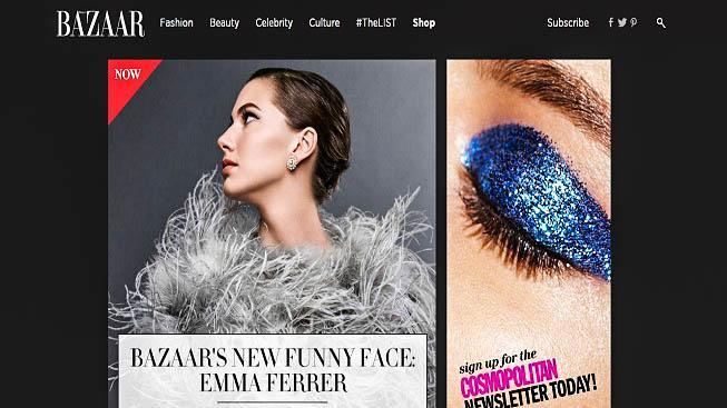 Harper's Bazaar a Emma Ferrerová