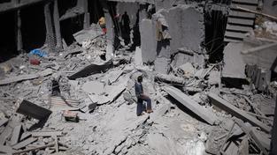 Škody v pásmu Gazy jsou obrovské