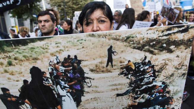 protest proti ISIS