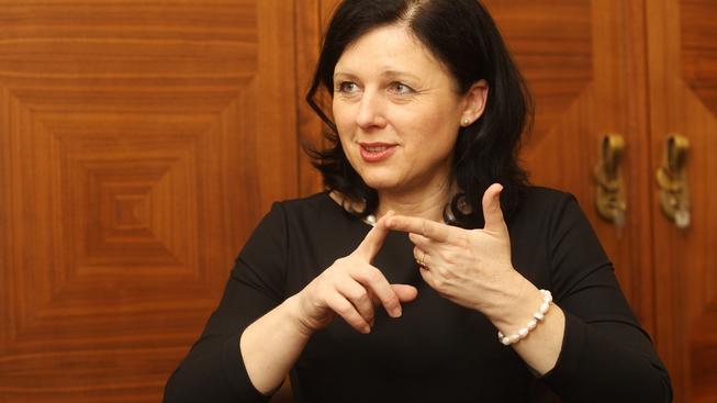 Česká ministryně pro místní rozvoj Věra Jourová