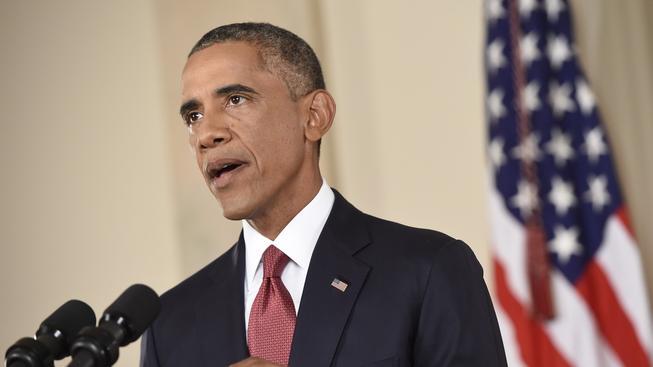 Barack Obama během včerejšího projevu