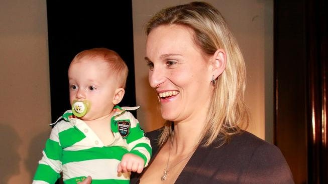 Barbora Špotáková se synem Jankem