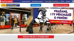Web kampaně okradenapraha.cz