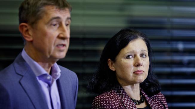 Věra Jourová a Andrej Babiš
