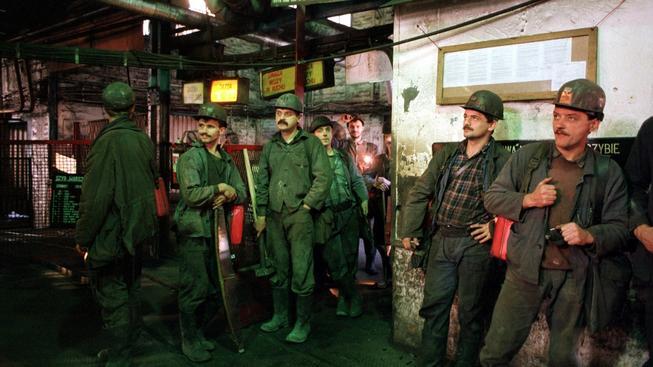 Polští horníci, ilustrační snímek