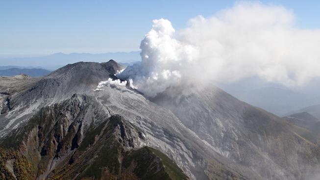 Erupce japonské sopky Ontake