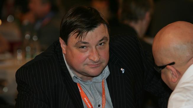 Roman Houska na sjezdu ČSSD.