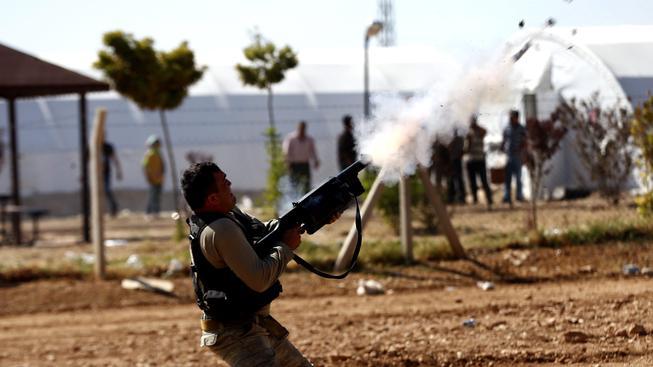 Kurdské protesty proti Islámskému státu (ilustrační foto)