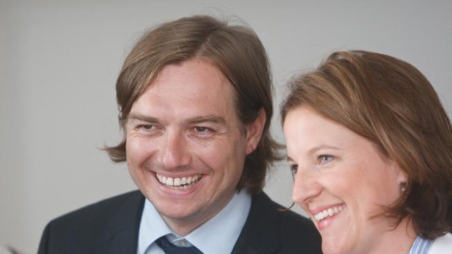 Michal Babák ještě jako poslanec s tehdejší stranickou kolegyní Karolínou Peake