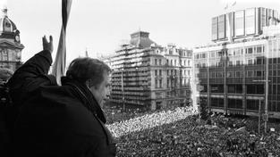 Projev Václava Havla k demonstrantům v prosinci 1989