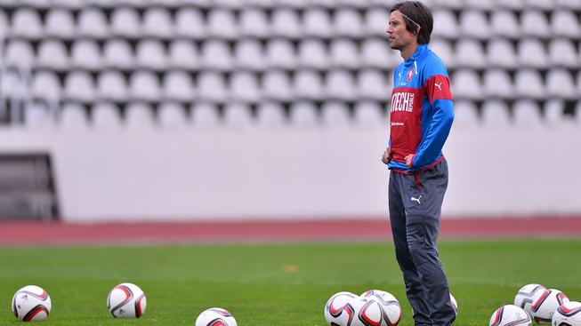 Tomáš Rosický při tréninku reprezentace
