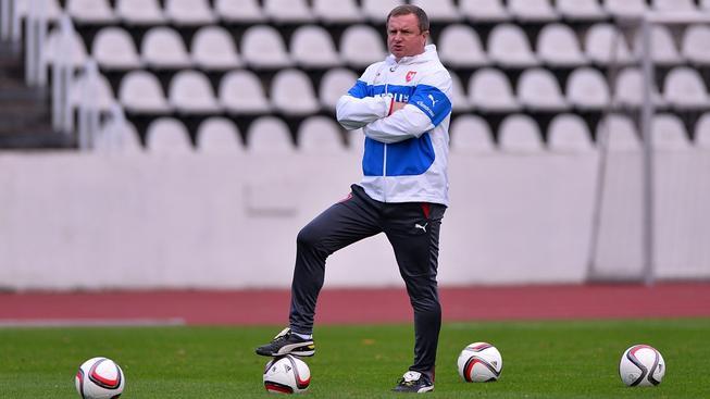 Pavel Vrba při reprezentačním tréninku