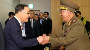 Setkání jihokorejských a severokorejských představitelů, archivní snímek