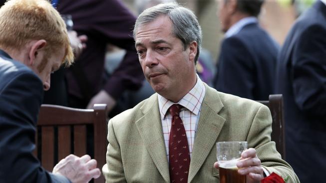 Šéf euroskeptické strany UKIP a předseda rozpuštěné frakce Evropa svobody a přímé demokracie