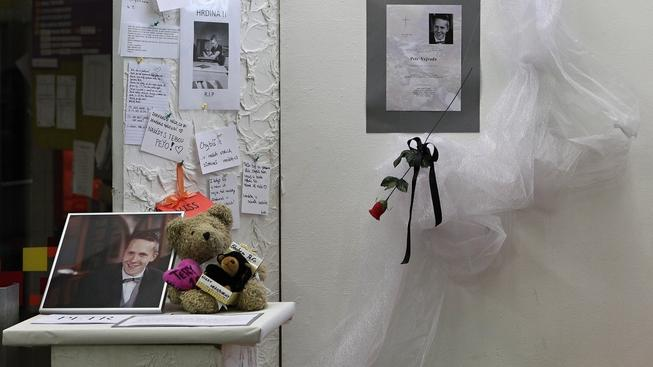 Pieta za zabitého studenta ve Žďáru nad Sázavou
