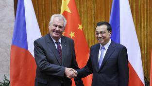 Miloš Zeman se svým čínským protějškem Li Kche-čchiangem