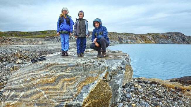 Norské děti ve fjordu (ilustrační foto)