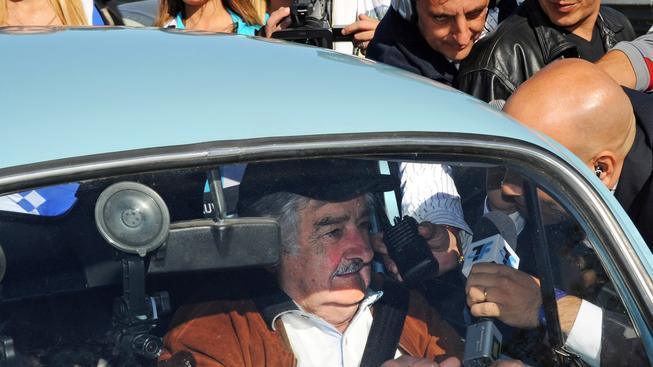 Prezident Uruguaye José Mujica ve svém legendárním voze