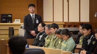 Kapitán potopeného trajektu Sewol před jihokorejským soudem