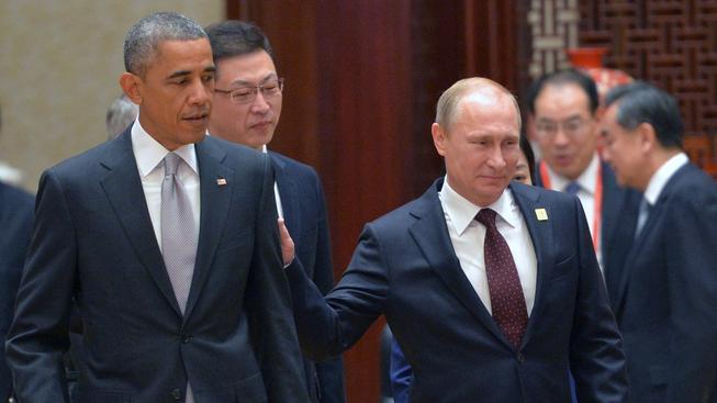Barack Obama a Vladimir Putin se setkali v Pekingu
